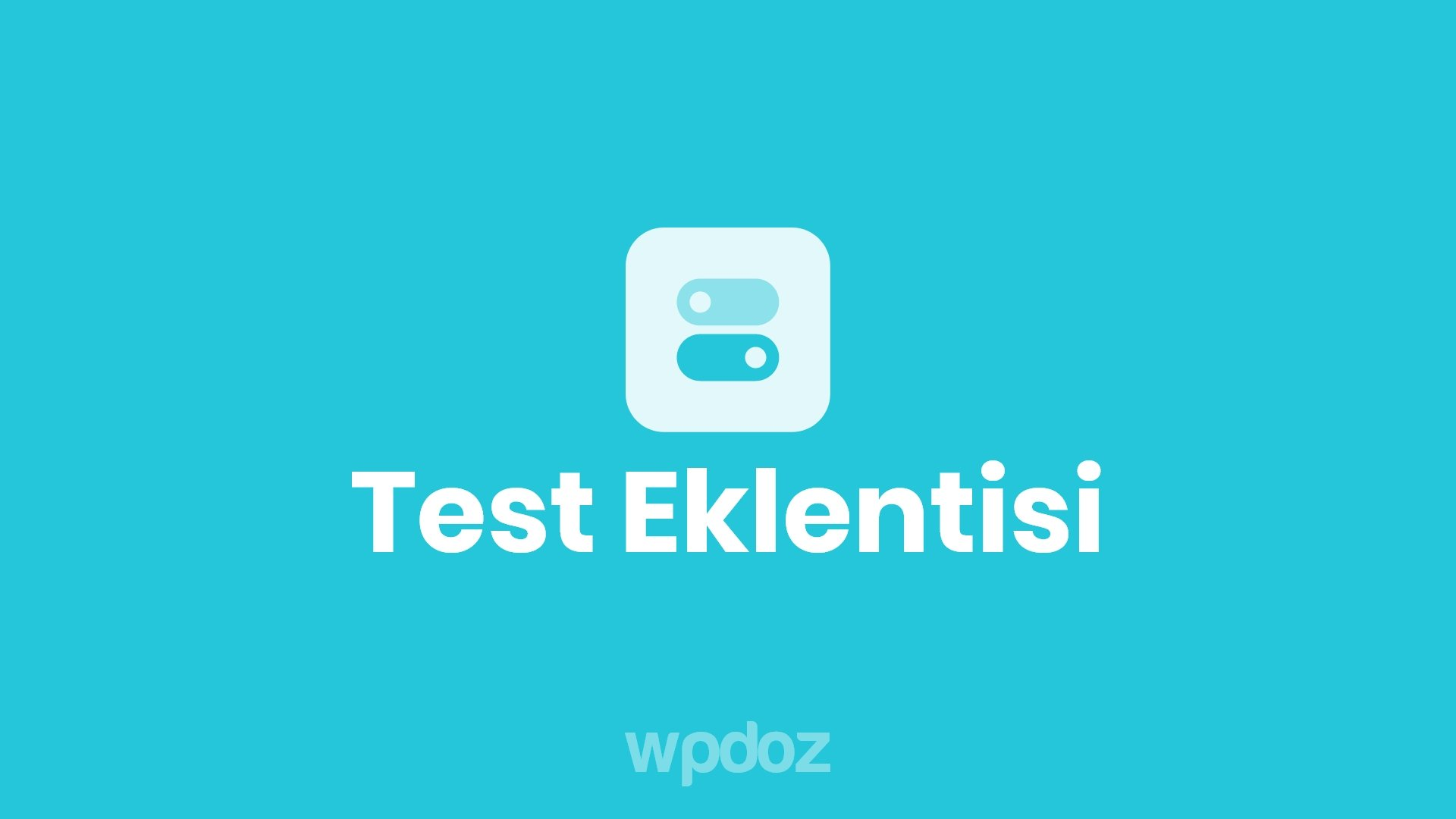 WordPress Test Eklentisi – WP Quiz