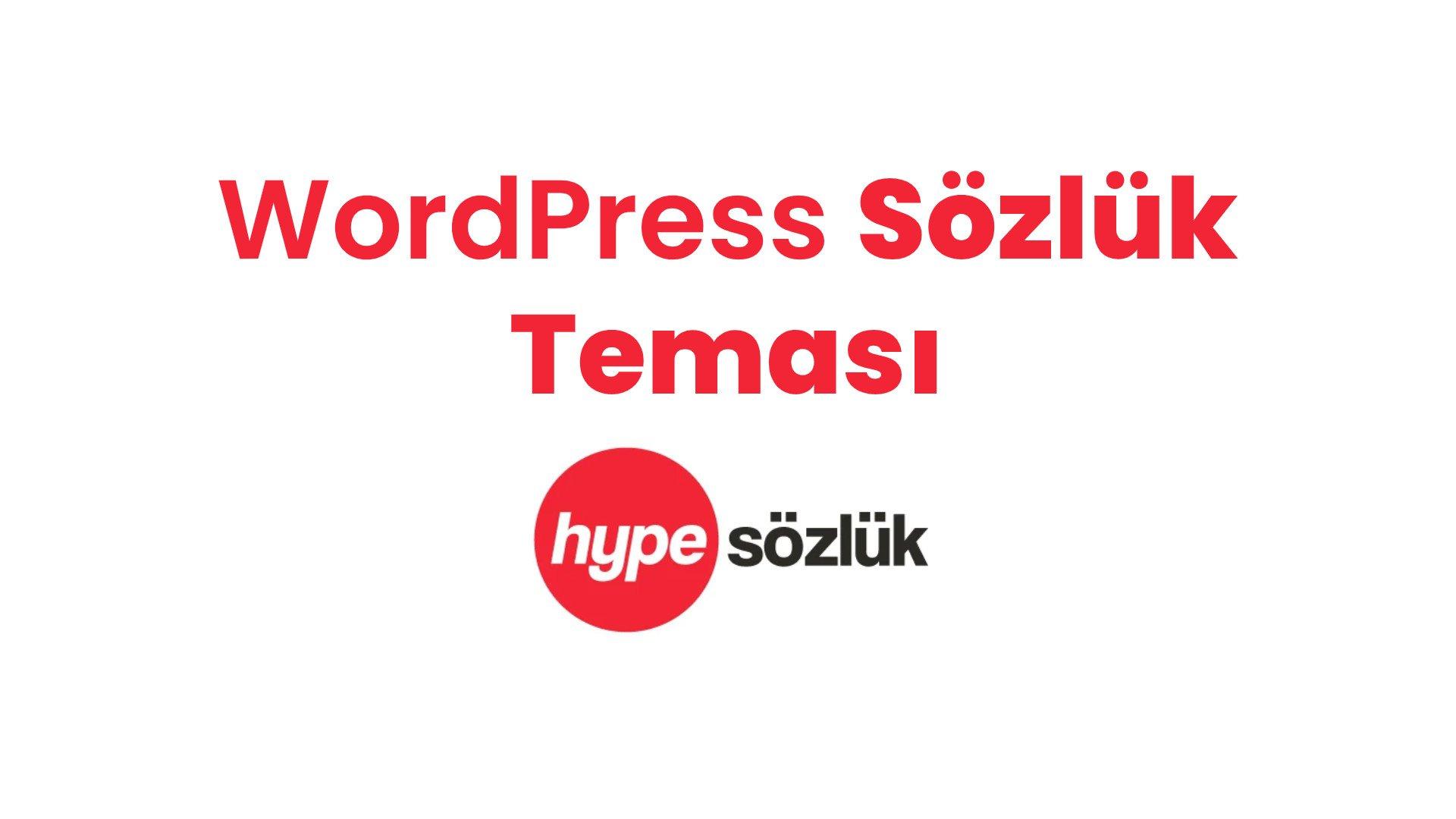 WordPress Sözlük Teması – HypeSözlük