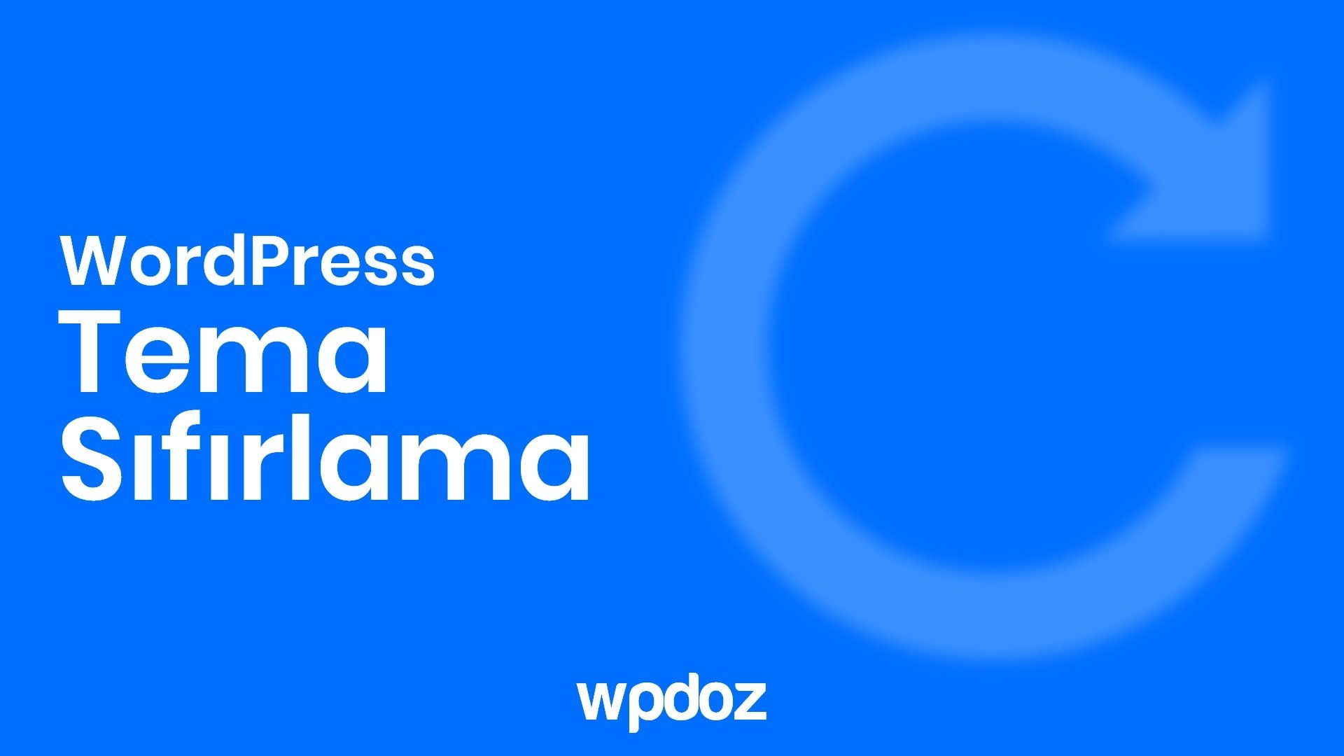 WordPress Tema Sıfırlama Nasıl Yapılır? 3 Farklı Yol