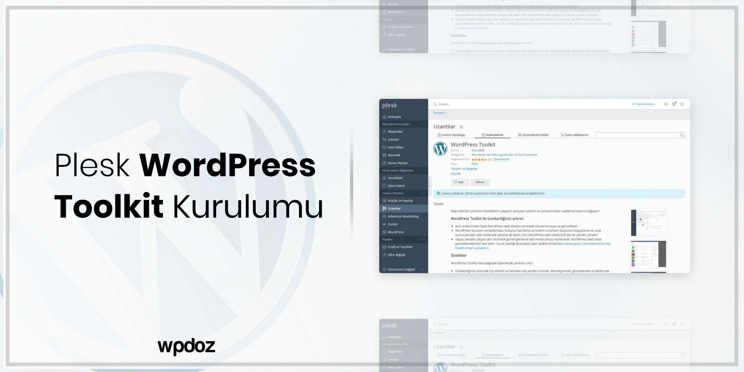 Plesk WordPress Toolkit Kurulumu