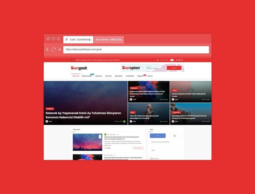 WordPress portal teması Geoit