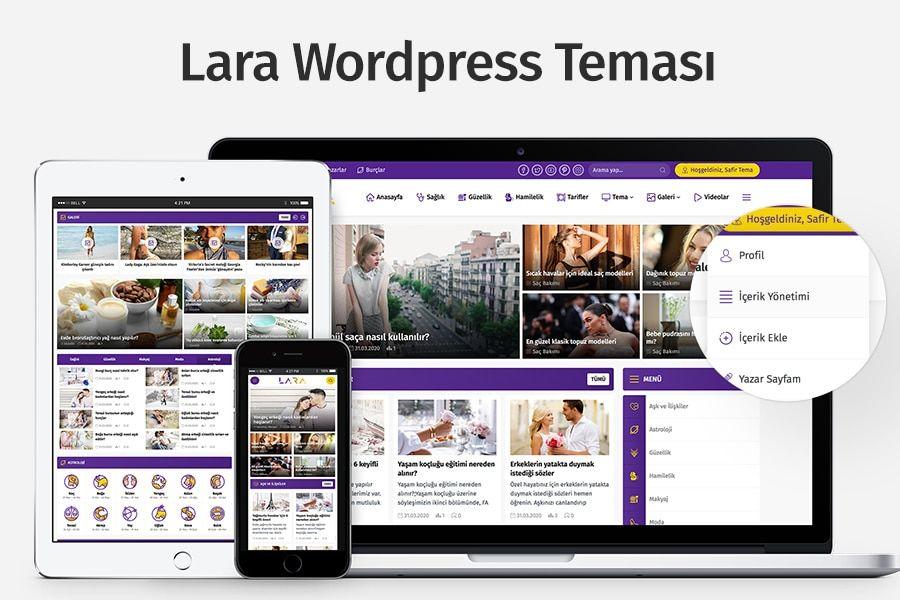 WordPress portal teması Lara