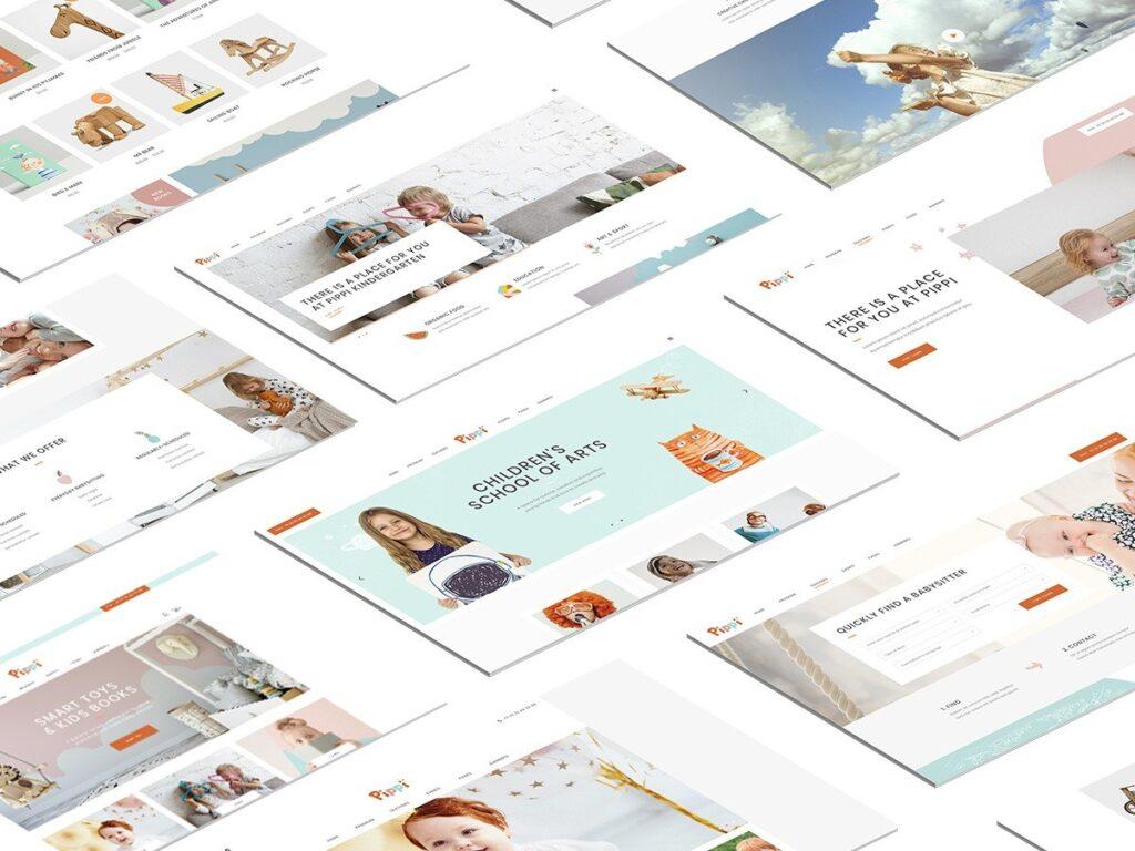 WordPress Anaokulu, Kreş Temaları