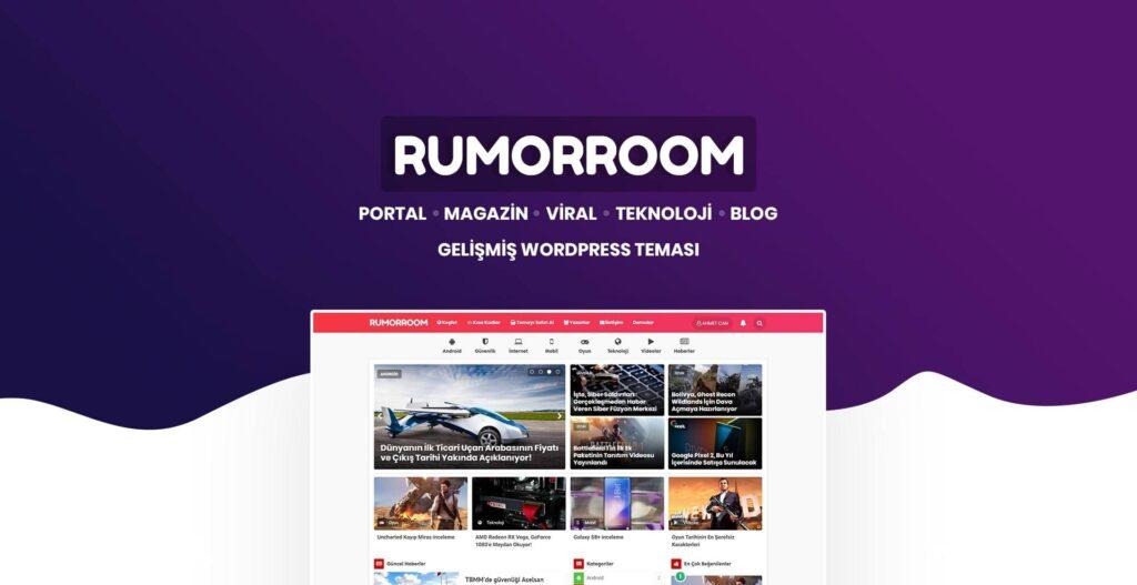 WordPress portal teması rumorroom