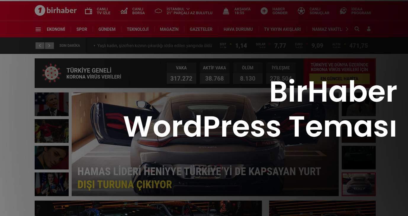 WordPress Haber Teması – BirHaber