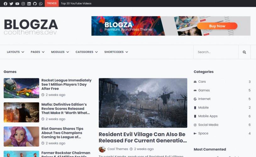 WordPress Portal Teması Blogza