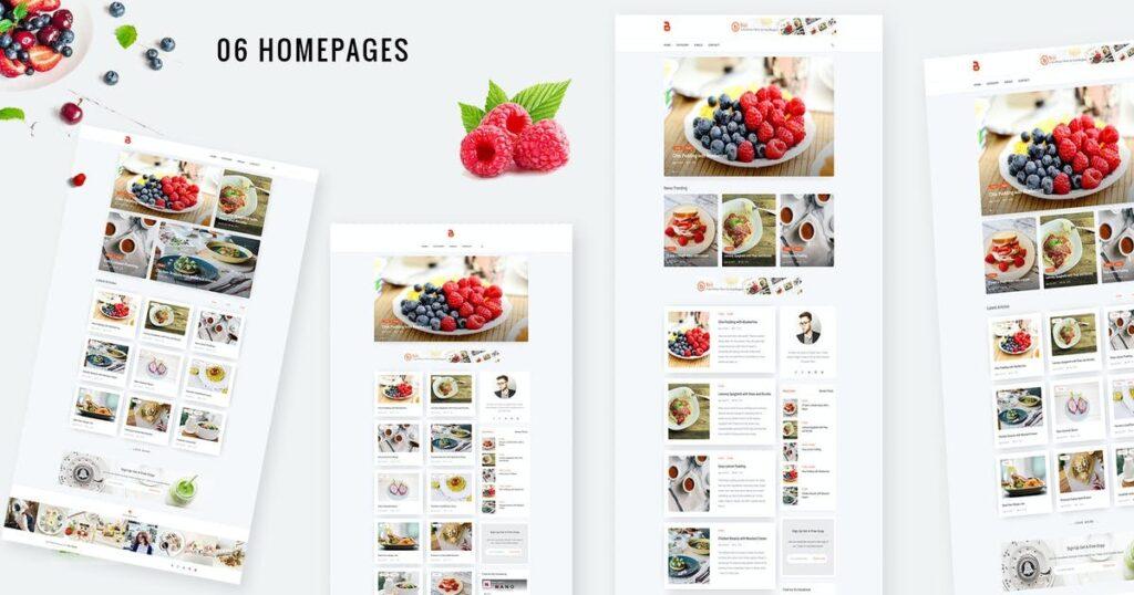 WordPress yemek teması Bizi