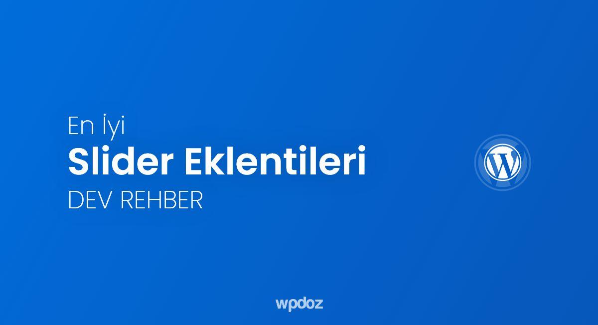 WordPress Slider (Manşet) Eklentisi – En İyi 20 Eklenti