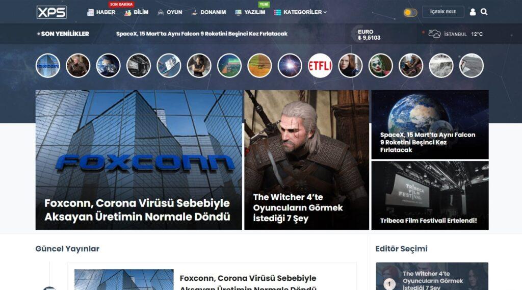 WordPress portal teması xps