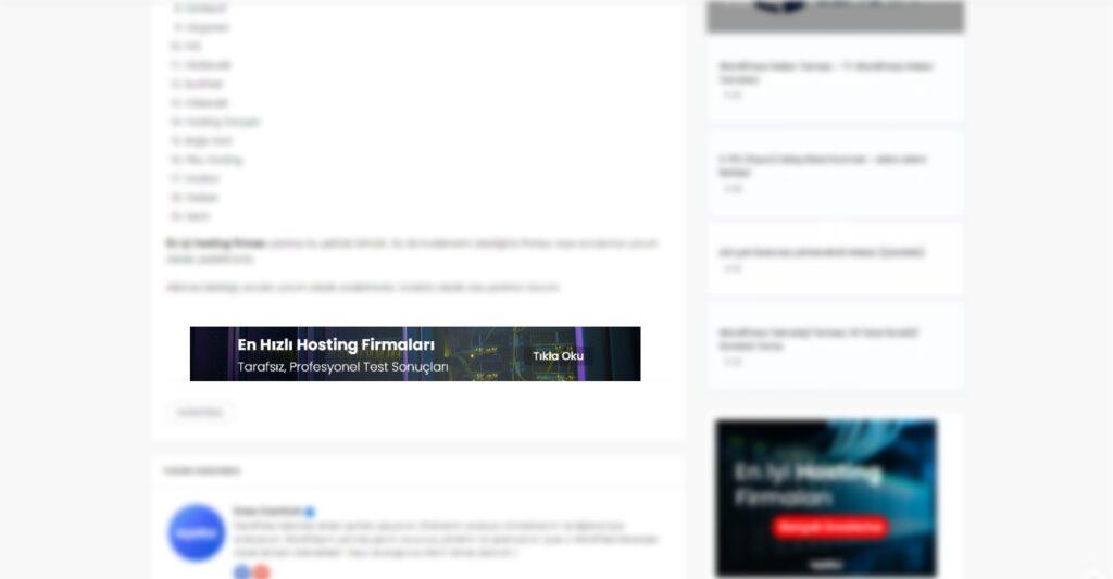 Yazı Sonu Reklam Alanı