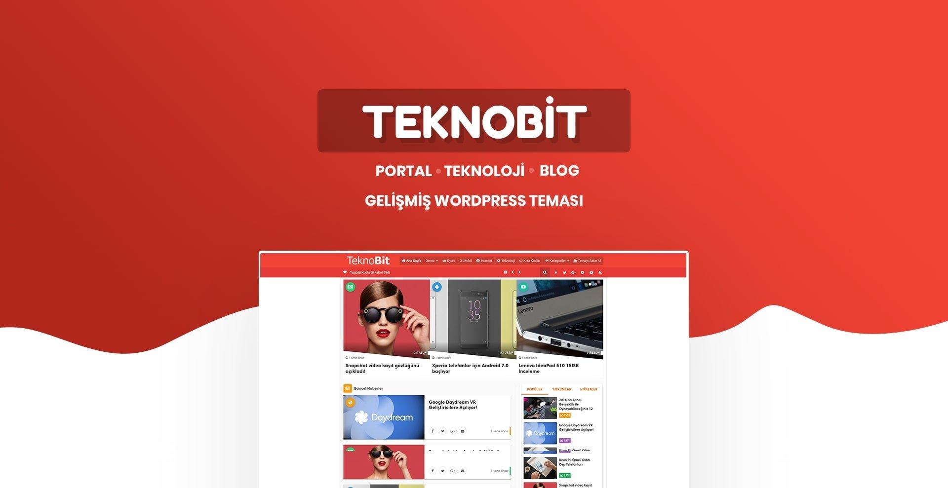 Teknobit WordPress Teknoloji Teması (İnceleme)