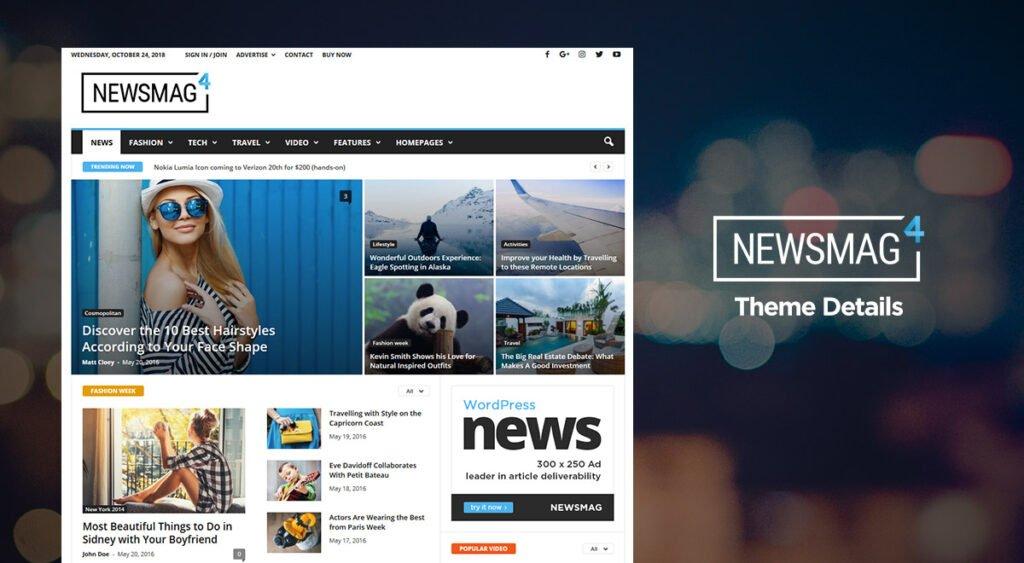 WordPress blog teması Newsmag