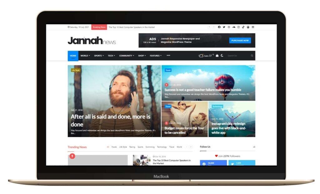 WordPress Blog Teması Jannah