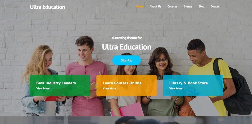 WordPress eğitim teması Ultra