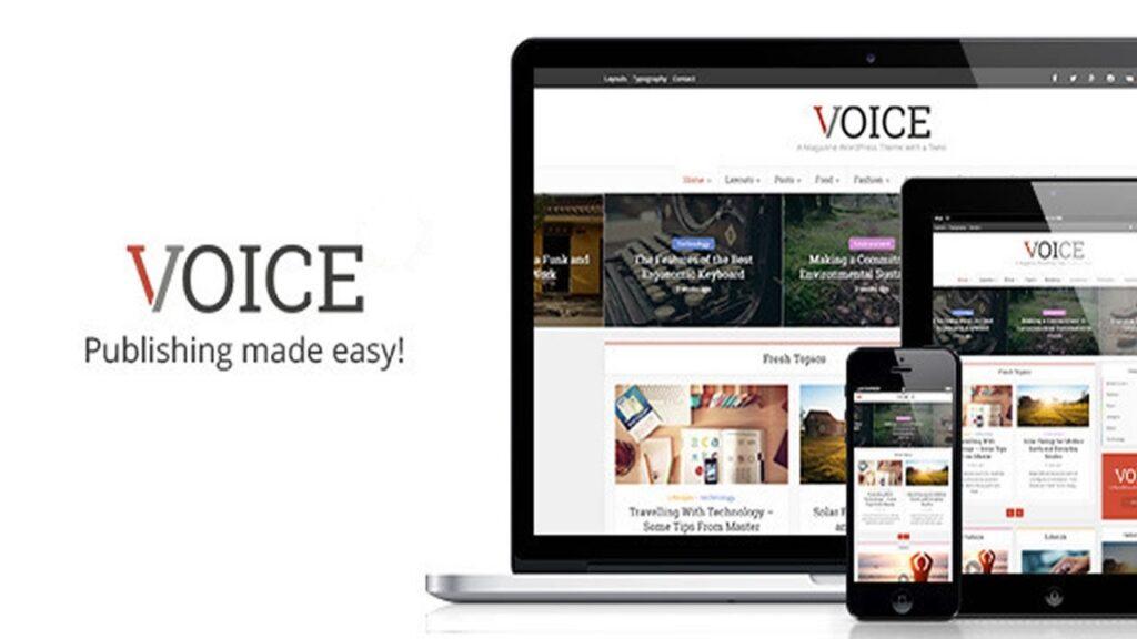 WordPress Blog teması Voice