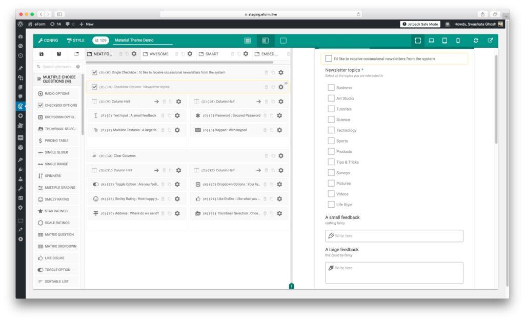 eForm Builder WordPress Plugin