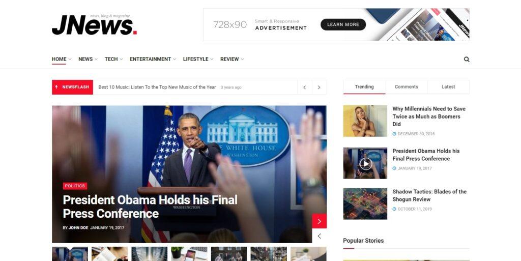 WordPress haber teması JNews