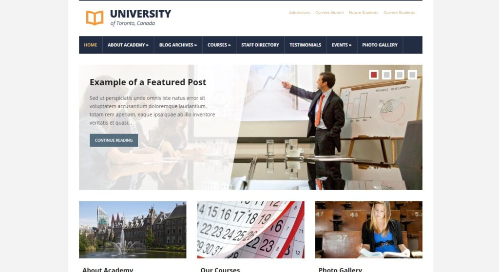 WordPress eğitim teması Lectura pro