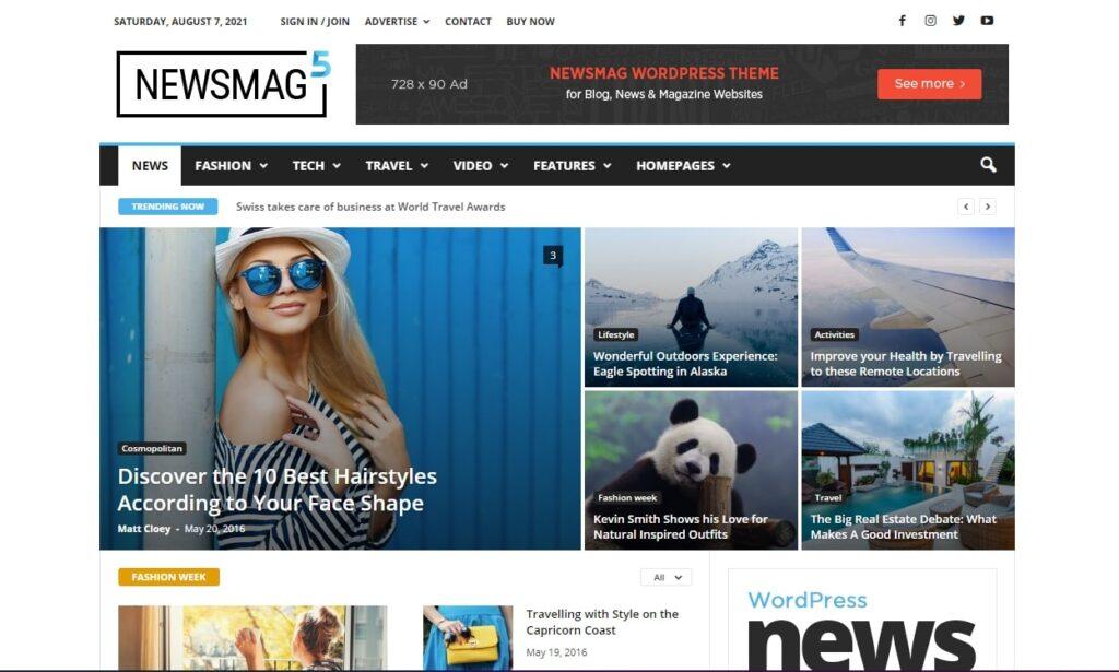 WordPress haber teması Newsmag