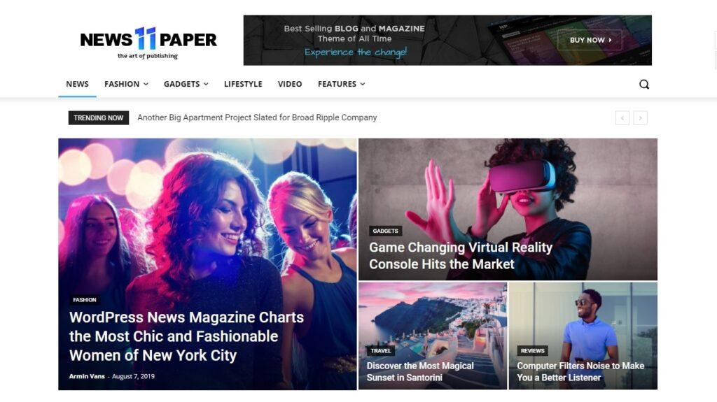 WordPress haber teması Newspaper