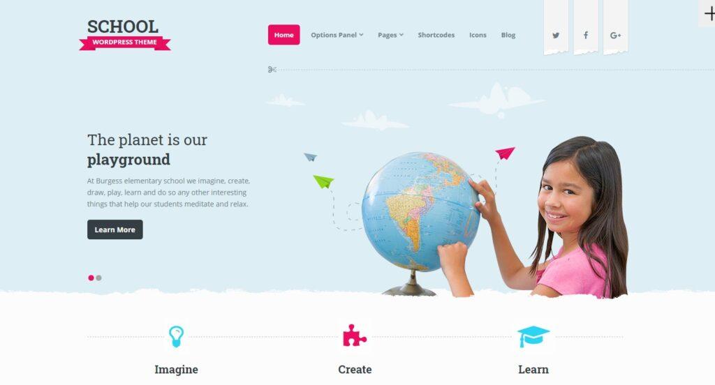 WordPress eğitim teması School