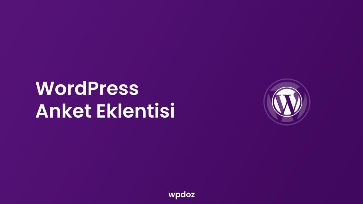 En İyi 9 WordPress Anket Eklentisi (Karşılaştırma)