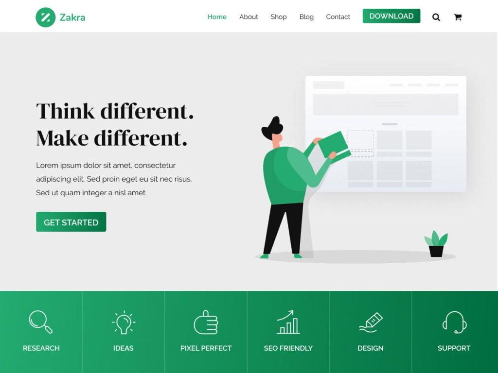 WordPress eğitim teması Zakra